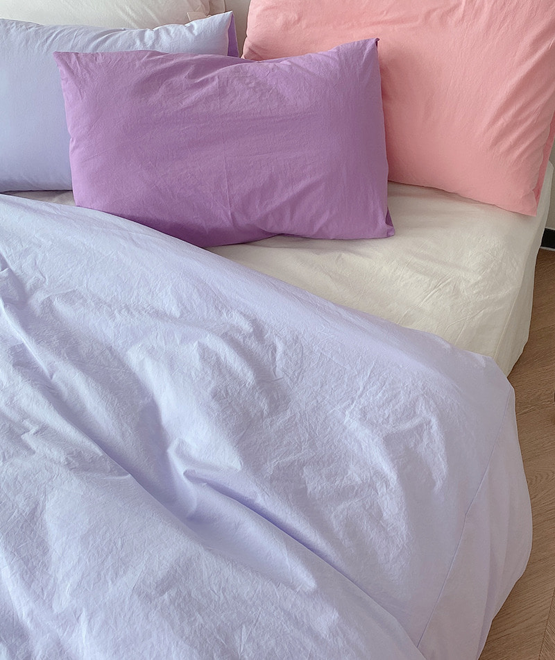Solid Cotton Bedding (Lavender)