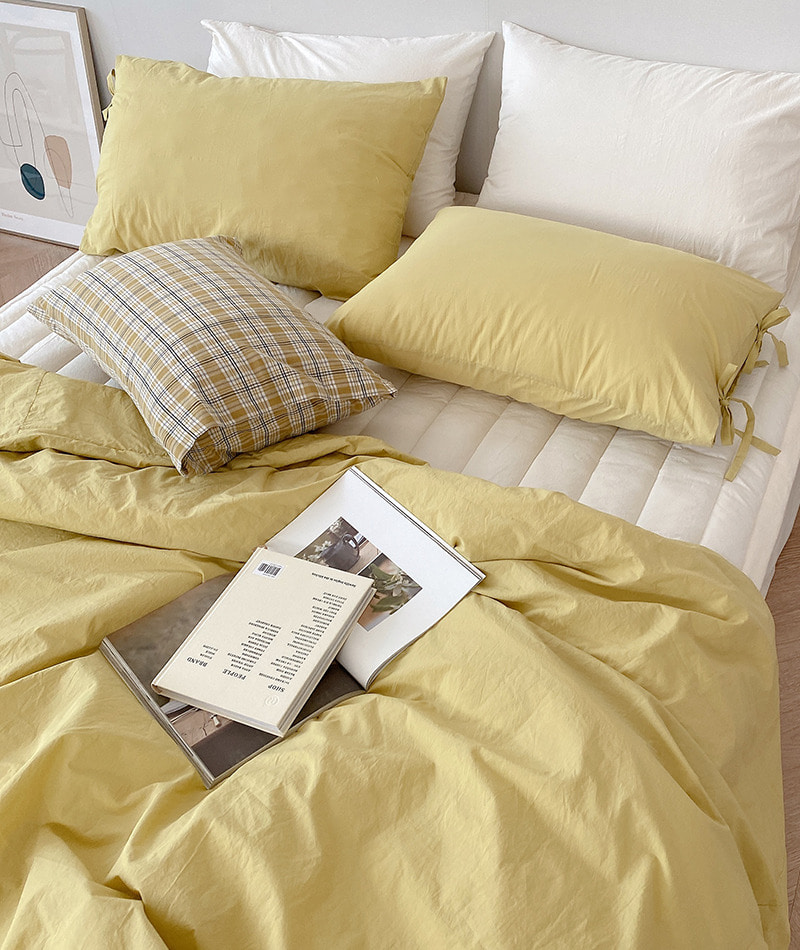 100s Cotton Bedding (Yellow Green)