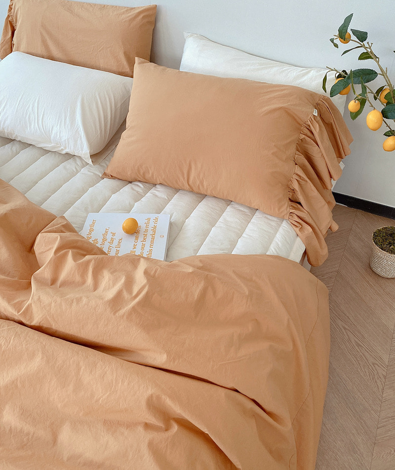100s Cotton Bedding (Mustard)