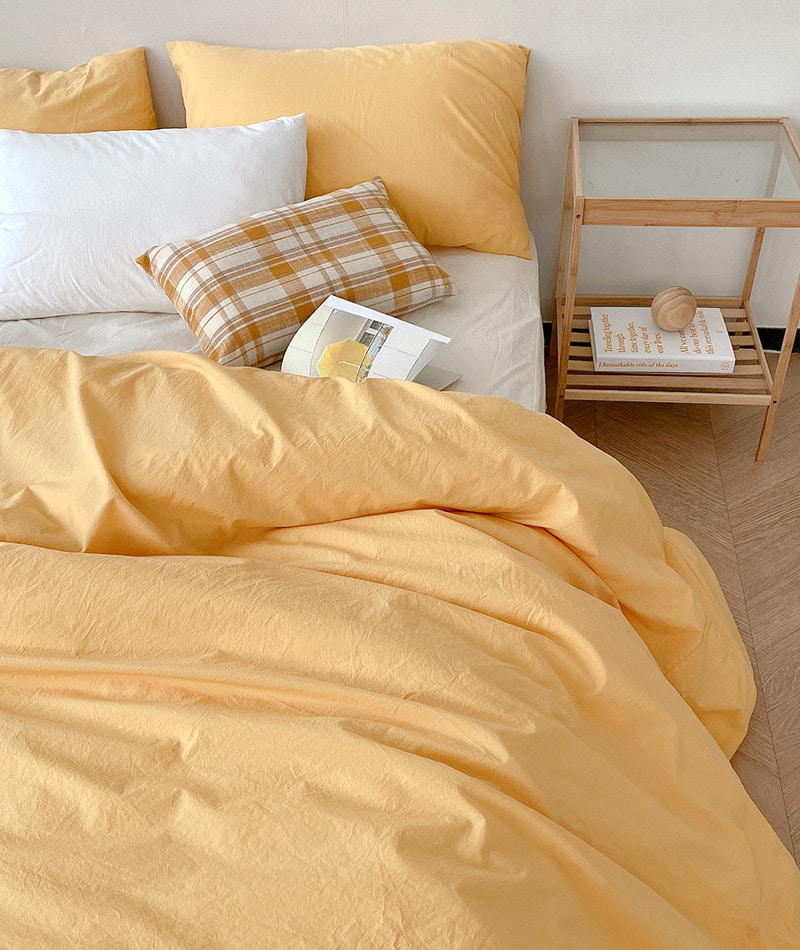 100s Cotton Bedding (Yellow)