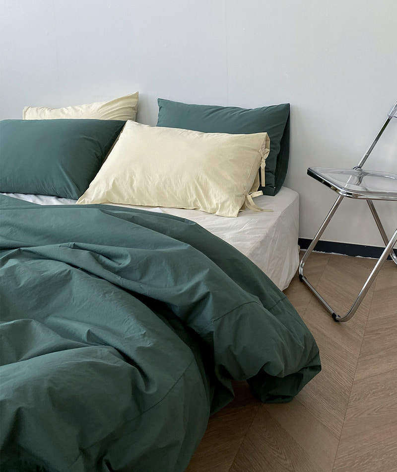 100s Forest Green Bedding