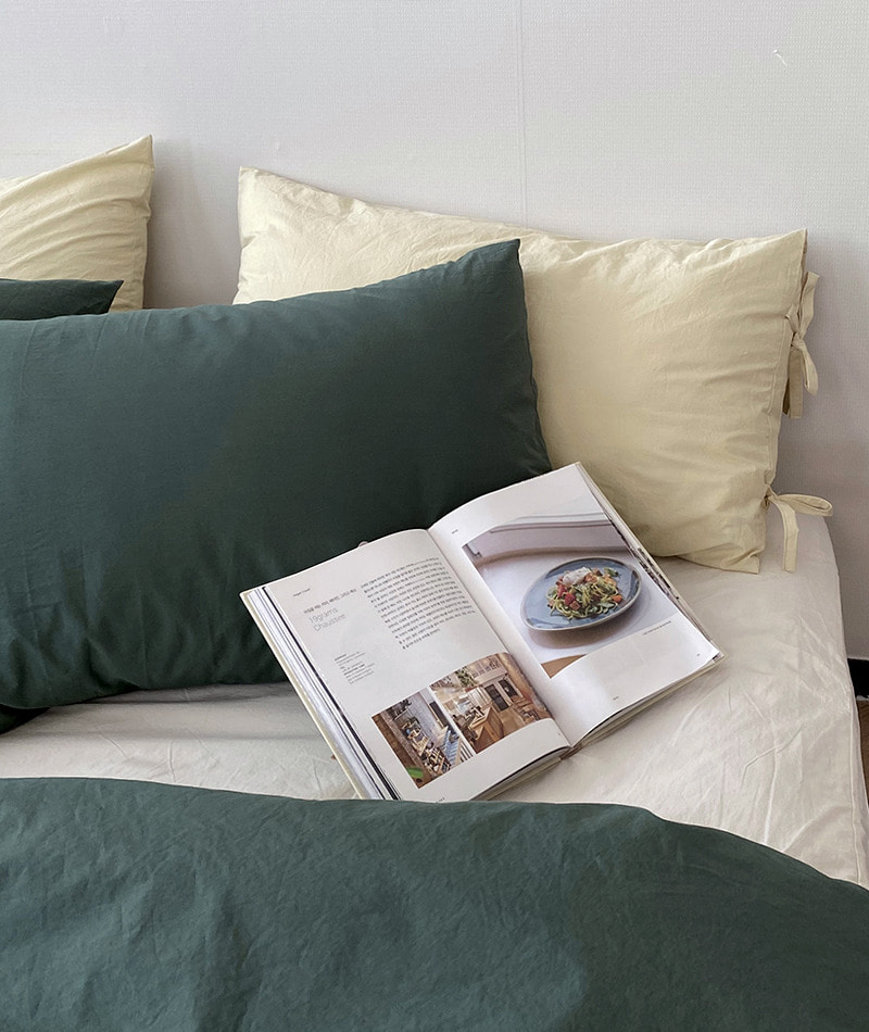 100s Forest Green Pillow Cover