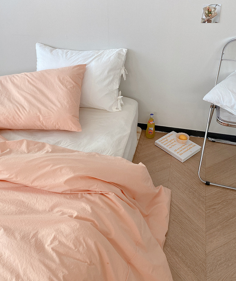 Solid Cotton Bedding (Salmon Peach)