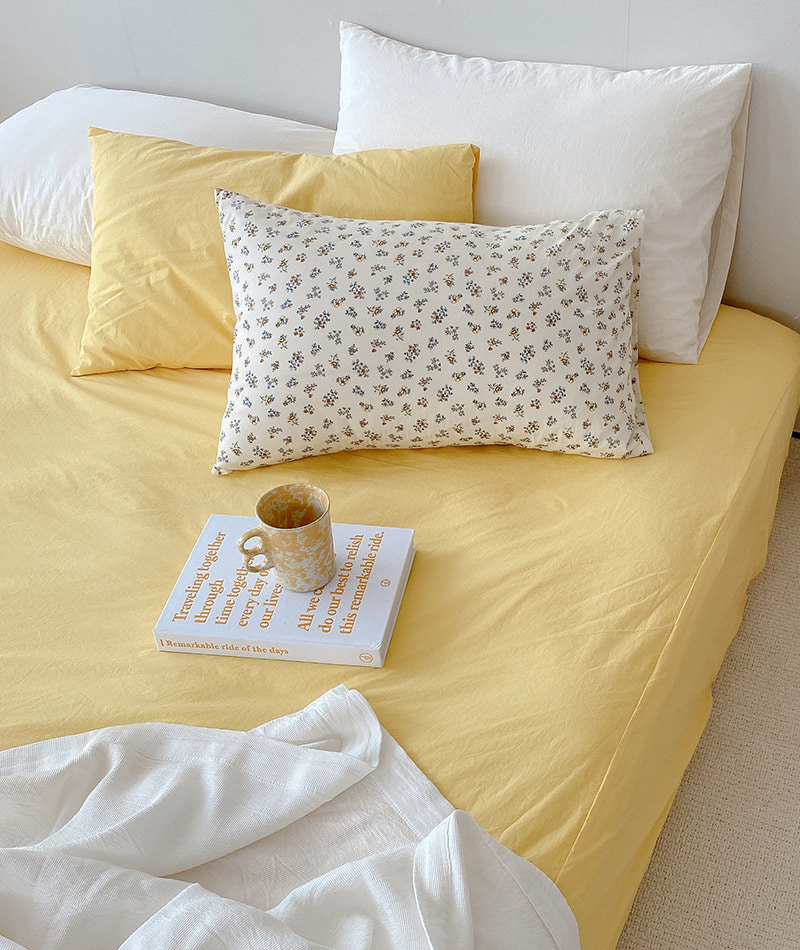 *Lemon Yellow* 60s Mattress cover