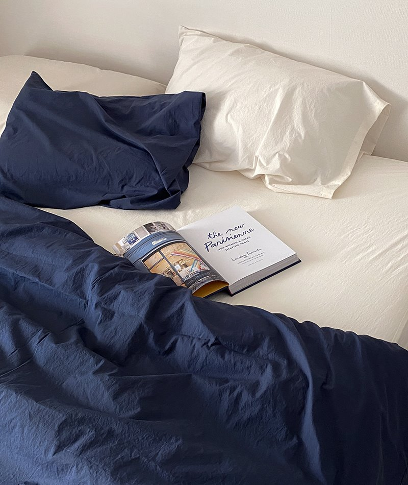 100s Cotton Bedding (Navy)