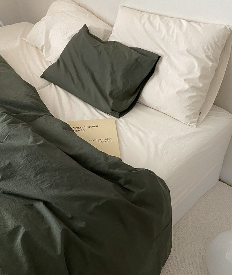 100s Cotton Bedding (Olive Khaki)